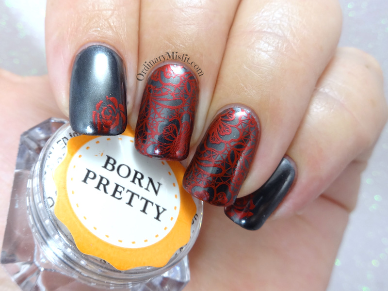 Born Pretty Store Black Chrome pigment powder nail art