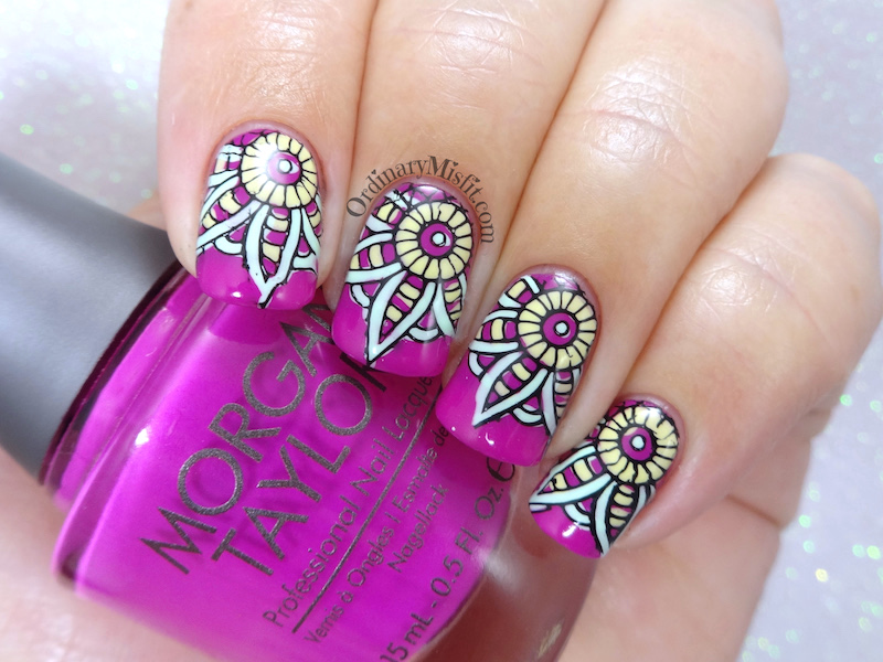 Kaleidoscope nail art
