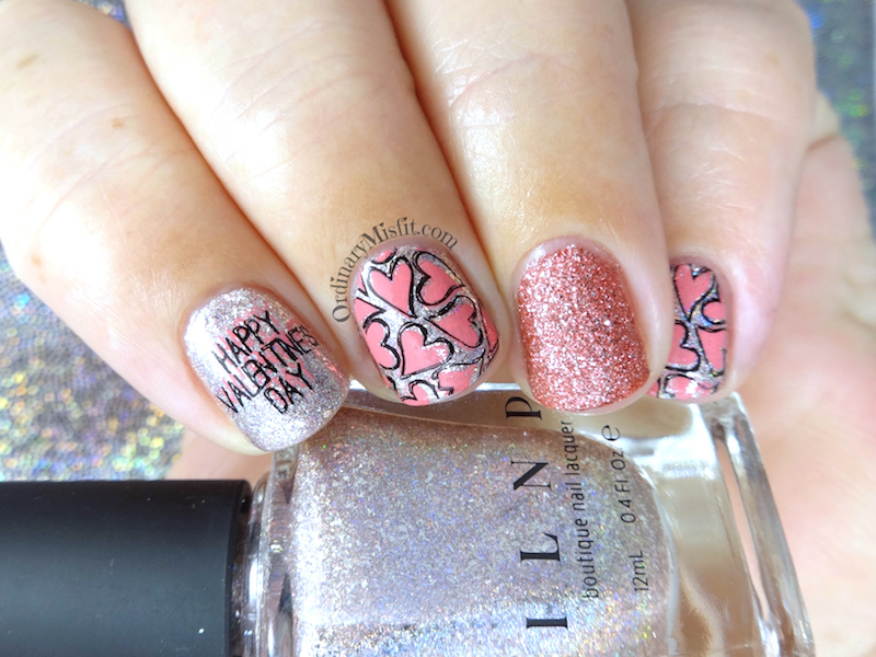 52WeekNailChallenge - Week 7 - Valentines day