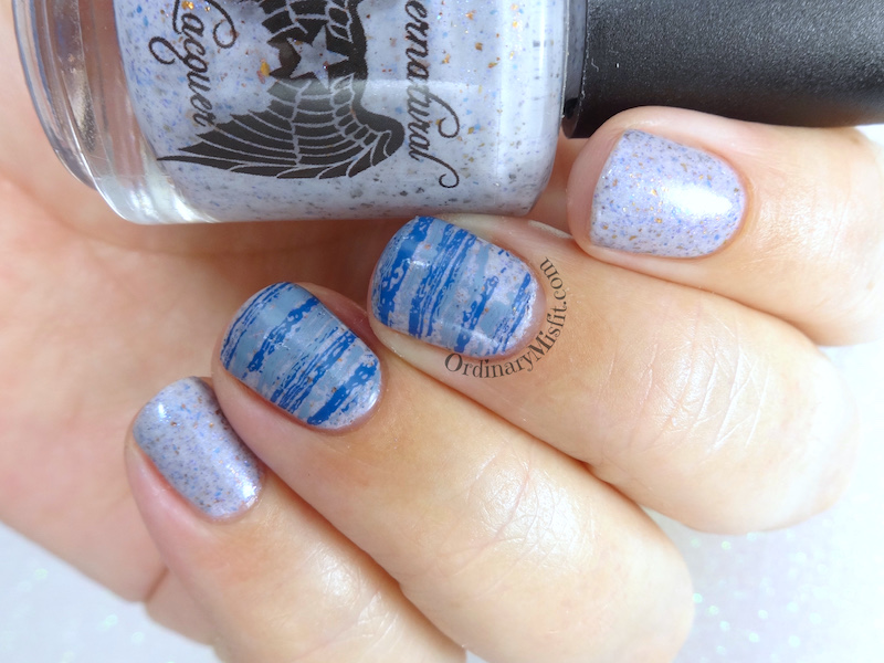 52WeekNailChallenge - Week 8 - Grey & blue