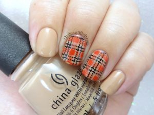 52weekchallenge - Plaid nail art