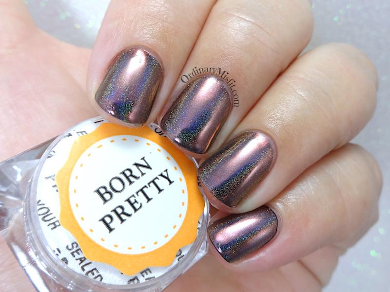 Born pretty Store holographic chameleon chrome pigment powder review