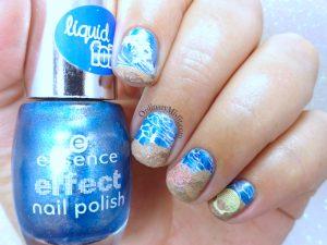 52weekchallenge - Ocean nail art