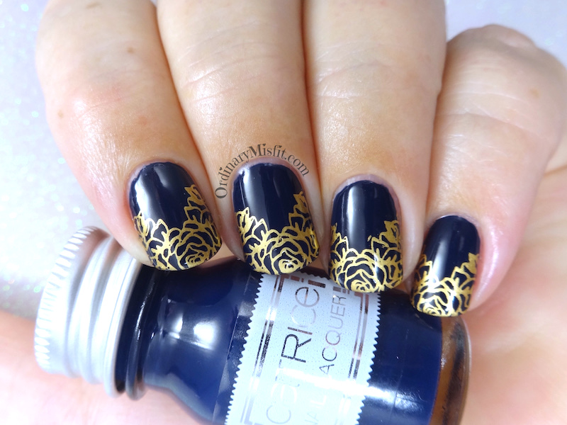 Bronze french nail art