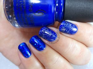 Everything blue nail art