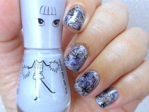 Lavender fields nails art