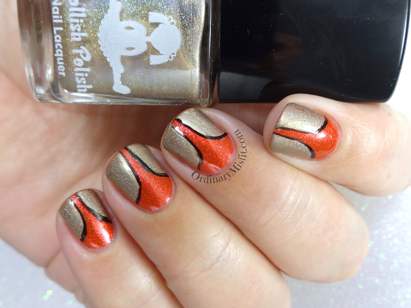 Red stilettos nail art