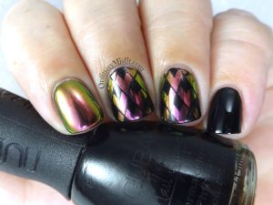 Stamped chrome nail art