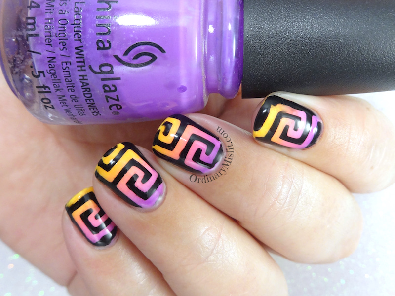 Greek gradient nail art