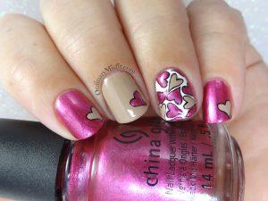 Heart full nail art