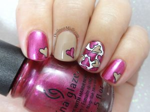 Heart full nail art