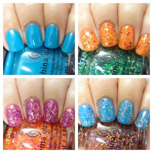China Glaze - Electric nights collage