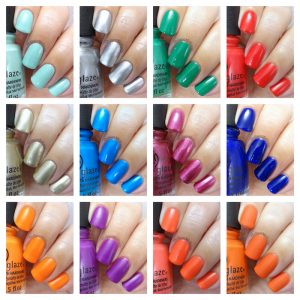 China Glaze - Summer reign collection collage
