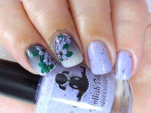 Lilac floral gradient
