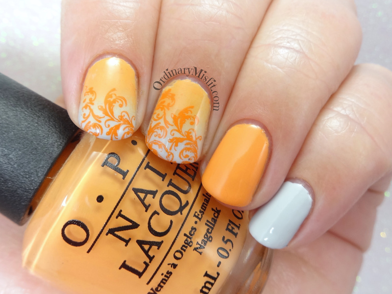 31DC2018 Day 2- Orange nails