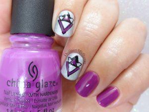31DC2018 Day 6- Violet nails