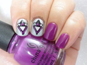 31DC2018 Day 6- Violet nails