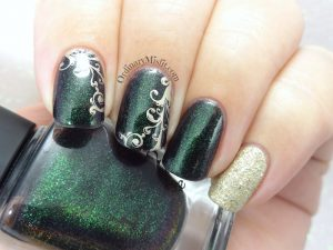 Green and gold swirls