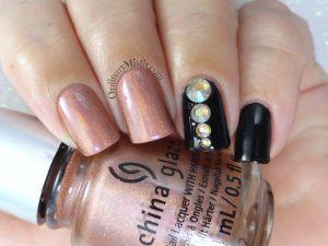 Born Pretty Store review - Champagne rhinestones option 2