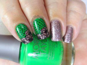 Secret santa green and glitter flowers