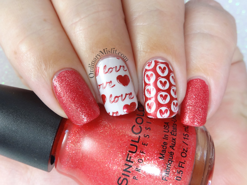 Secret santa is all about love nail art