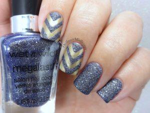 Textured chevrons nail art