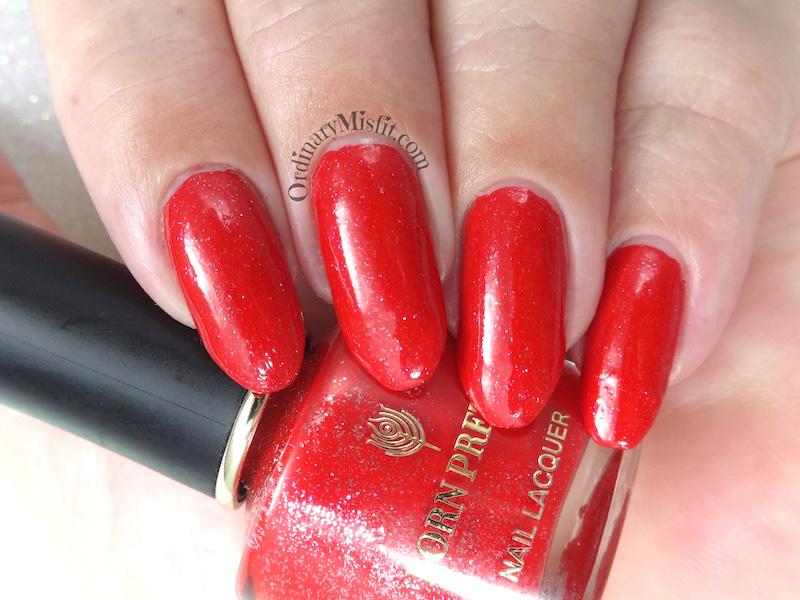 Born Pretty Store review - Peel off nail polish Firebird dance