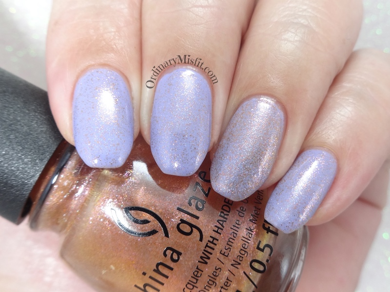 China Glaze - Better than nectar (over lavenduh))