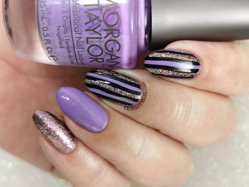 Glittery stripes