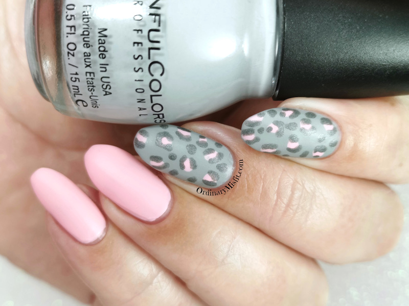 Pink and grey leopard print