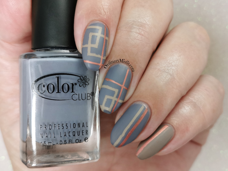 Squares and stripes nail art
