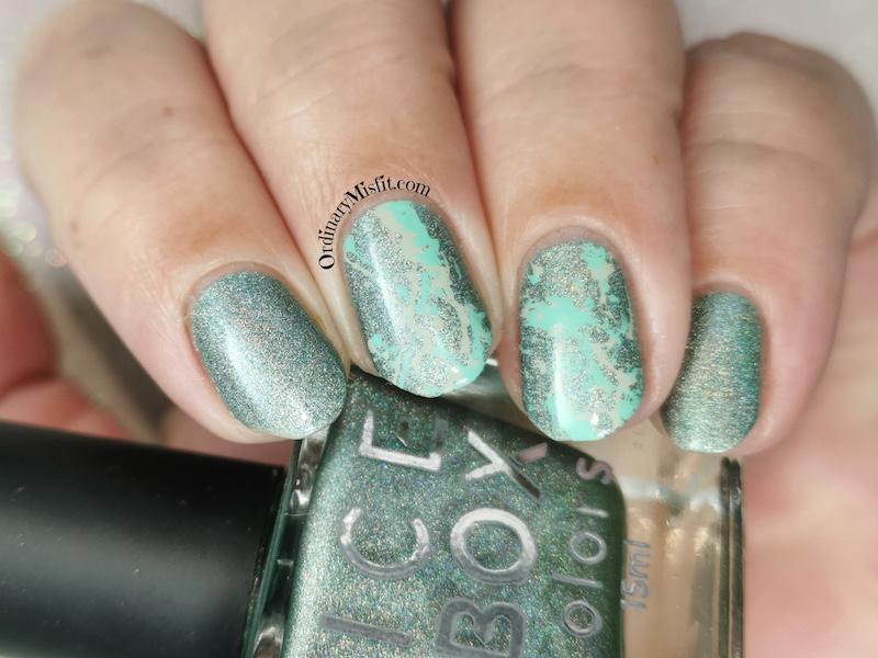 Green splatter holo