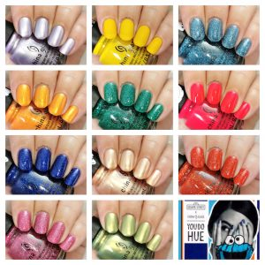 China Glaze x Sesame street - You do hue collection collage