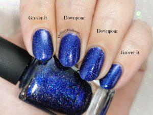 Comparison China Glaze - Grover it vs ILNP - Downpour