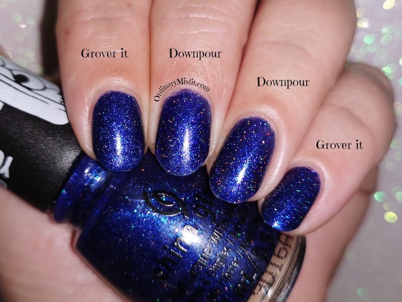 Comparison China Glaze - Grover it vs ILNP - Downpour