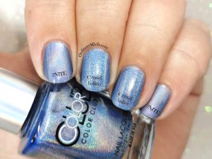Comparison Color Club - Crystal baller vs China Glaze 2NITE