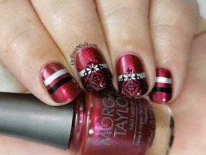 Petal and lace nail art