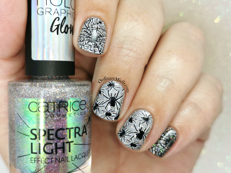 Born pretty store review - Stamping plate Nicole Diary L12 look 2