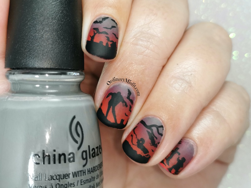 Born pretty store review - Stamping plate Nicole Diary L12 look 3