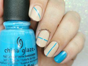 blue line nail art