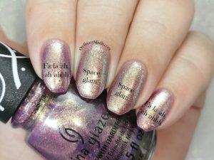Comparison - China Glaze - Fa-la-ah-ah-ahhh vs Essence - Space glam