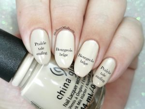 Comparison- China Glaze - Prairie tale ending vs China Glaze - Bourgeois beige