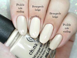 Comparison- China Glaze - Prairie tale ending vs China Glaze - Bourgeois beige