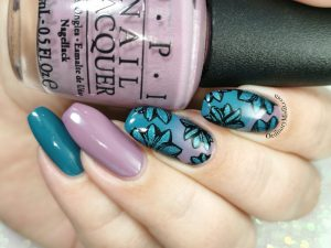 Teal flowers and gradients